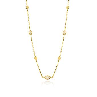Ania Haie Silver Shiny Gold Plated Opal Colour Necklace N014-04G