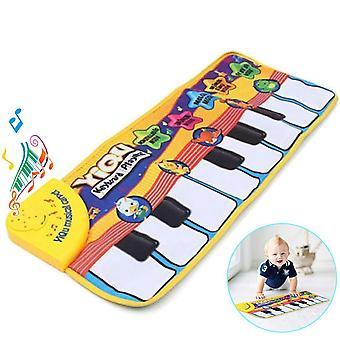 Amison nové dotykové hry klávesnice hudobné hudba spev telocvičňa koberec mat najlepšie deti baby darček