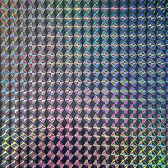 Fablon Holographic Mosaic Silver
