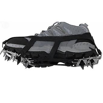 18 Teeth Fishing Ice Snow Shoe - Spiked Grips Cleats Crampons Winter Climbing