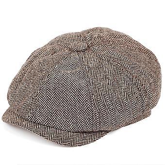 Nové Retro Octagon Čierna Britská Maliari Klobúky, Barety Herringbone Ploché čiapky