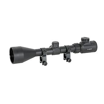 RIFLE SCOPE 3-9X50 WITH HIGH MOUNTING RINGS [ACM]