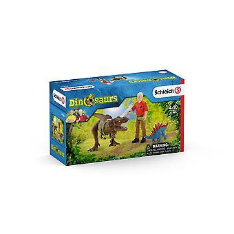 Schleich 41465 Tyrannosaurus Rex Attack Dinosaur Figure