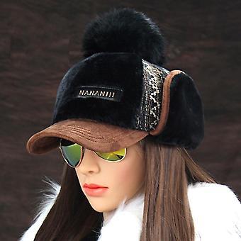Umelé kožušiny Pompom Snehové klobúky