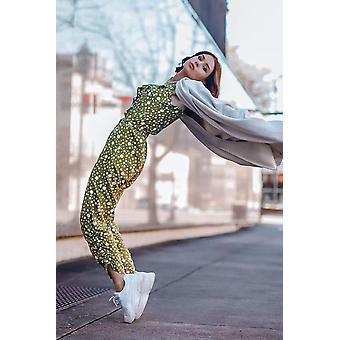 Chloe Jumpsuit | Grüner Polka Dot