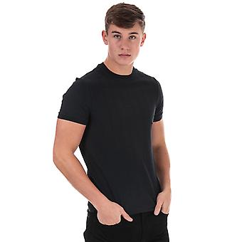 Men's Armani Square bestickt T-Shirt in blau
