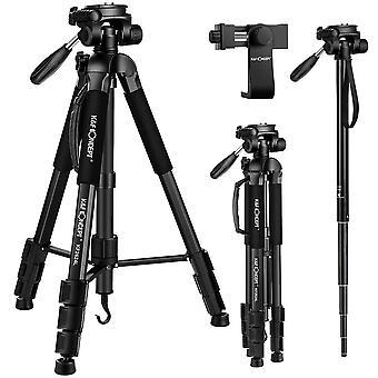 "Portable tripod,k&f concept 70""/177cm travel tripod outdoor compact aluminum video camera tripod mon"