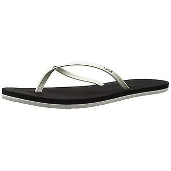 Womens sandales Bliss de récif | Faux cuir verni tongs pour femmes avec Sof...