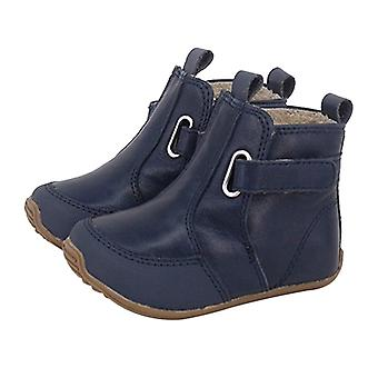 SKEANIE Toddler and Kids Leather Oxford Boots in Navy