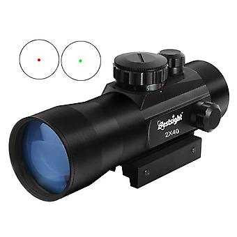 Tactical Rifle Scope Dot Collimator With Rail Mount Airsoft Air Hunting