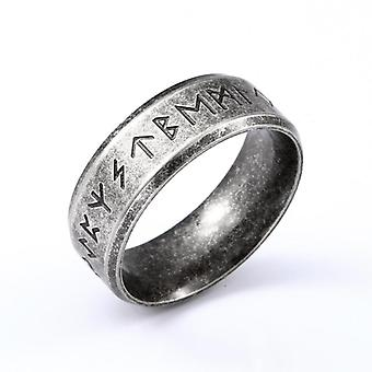 Stainless Steel Men Ring, Words Retro Rings Jewelry