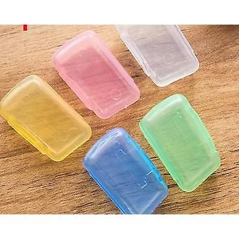Multi Color Travel Hiking Plastic Toothbrush Case Cover (5pcs 3.5x1.8x2.3cm)