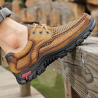Nouveaux mocassins en cuir authentiques, baskets mocassins pour hommes, chaussures causales