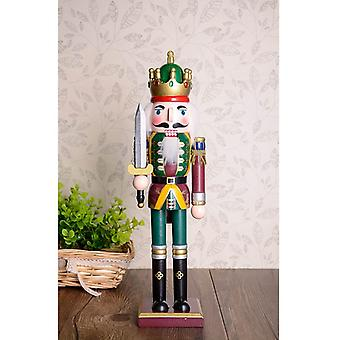 30cm Wooden Nutcracker Figurine Christmas Ornaments Decoration Dolls Colorful