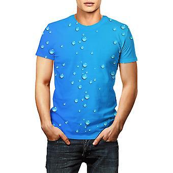 Men's 3d Printing Vesipisarat T-paita Kesä LyhytHihainen
