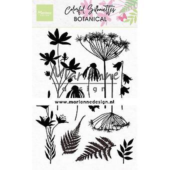 Marianne Design Jasne Znaczki Kolorowa Sylwetka - Botaniczny Cs1048 110x150mm