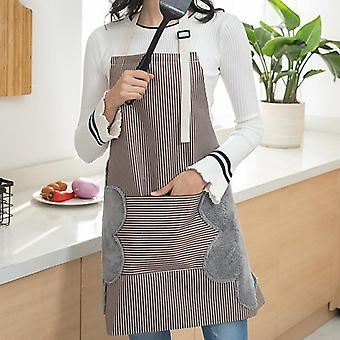 Apron With Side Wipes Absorb Water, Waterproof & Adjustable Buckle /big Pocket