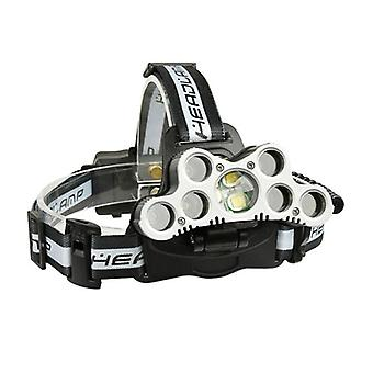 XANES 2502A 2200LM 2XPE+5T6 7LED 6Modes USB Charging Zoom Headlamp 18650 Battery