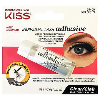 Kiss Individual Lash Durable Adhesive - Clear 6g - Long Lasting & Odour Free
