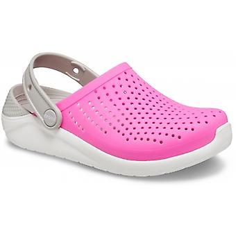 Crocs 205964 Literide Lasten tukokset Sähkö vaaleanpunainen/valkoinen