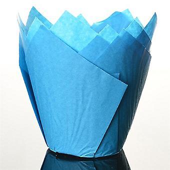Blue Tulip Cupcake Case - Pack of 50