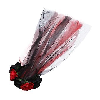 Véu de cabelo rosa artificial faixa criativa da cabeça para adereços fotográficos