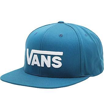 Vans Mens Drop V Justerbar Snapback Baseball Cap Hat - Marockansk Blå