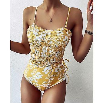 2020 New Sexy Folds One Piece Swimsuit