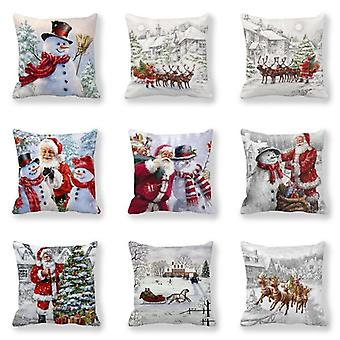 Merry Christmas Decorations For Home Cushion Cover