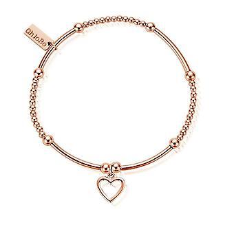 ChloBo Rose Gold Cute Mini Open Heart Bracelet RBCM1084