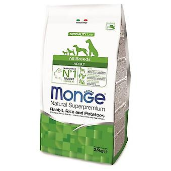 Monge All Breeds Dog Food Adult Rabbit/Rice/Potato (Dogs , Dog Food , Dry Food)