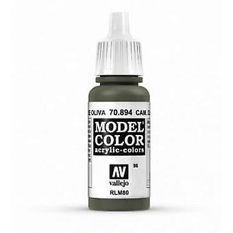 Vallejo Model Color 17ml Acrylic Paint - 894 Cam Olive Green