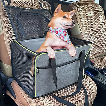 Portable Dog Crate Pet Puppy Car Seat Belt Booster Travel Carrier Folding Bag