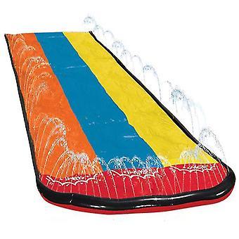 Outdoor children's inflatable spray water slide, summer garden lawn multi-person water slide