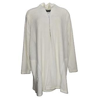 Nina Leonard Women's Sweater Plus Cozy Knit Cardigan Pockets White 724999