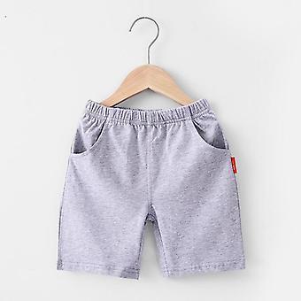 Colori solidi Cotton Beach Pantaloni sportivi corti Pantaloni elastici in vita