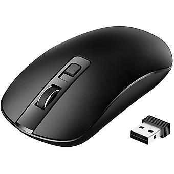 Laptop Maus, HanFei PC Maus Optische Business Maus Schnurlos Computer Wireless 2.4G Intelligente