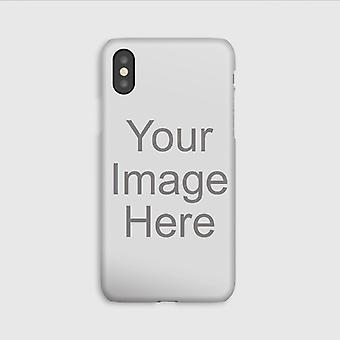 Custom Photo iPhone XS Max Case, Personalized Phone Case, 9H Tempered Glass Scratch Resistant Back Cover with TPU Frame