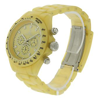 Toy Watch Plasteramic Pearilzed Pearl Chrono Gold Watch FLP07GD