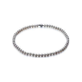 Collana perla Adriana Bianco Freshwater 7-8 mm 585/- Oro Bianco 45 cm U7-7-51