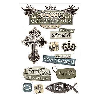 Paper House Productions - 3D Stickers - Strong/Courageous