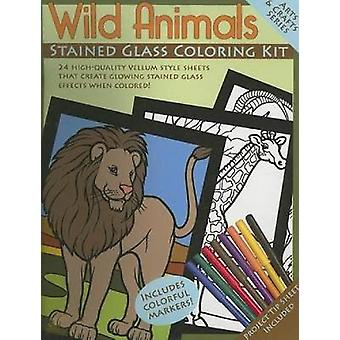 Wild Animals Stained Glass Coloring Kit par Dover Publications Inc