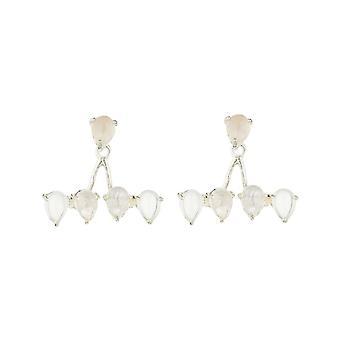 Silver mässing örhängen monterade med en rosa kvarts - apos;Scarletts;
