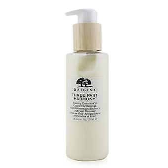 Origins Three Part Harmony Foaming Cream-To-Oil Cleanser For Renewal  Replenishment & Radiance 150ml/5oz