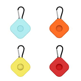 4Pcs silicone protective case compatible with airtags anti lost keychain ac02