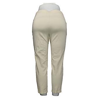 Belle af Kim Grus Kvinders Bukser Ponte Strik Slim Leg White A388513