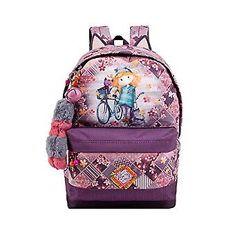 Forever Ninette Ninette Bicycle-HS FN Rucksack Casual Backpack, 44 cm, 23 liters, Multicolor (Multicolour)