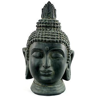 Stone Effect Buddha Head Large Statue