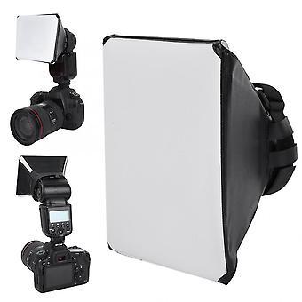 Fotografia Flash Difusor Mini Kit Câmera Foto Dobrável Soft Box Flash