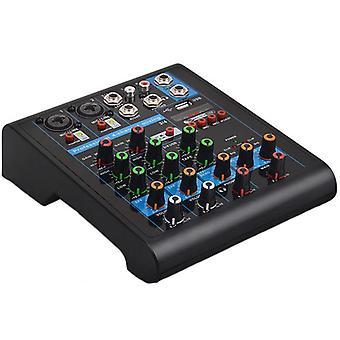 Misturador Bluetooth pequeno profissional de 4 canais com efeito Reverb para casa